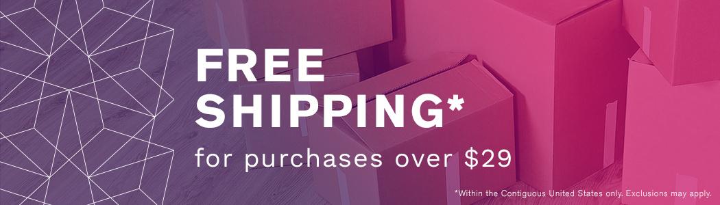 Free Shipping $29